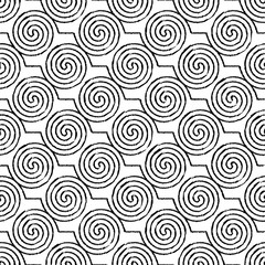 Ethnic boho seamless pattern with curls. Print. Repeating background. Cloth design, wallpaper.