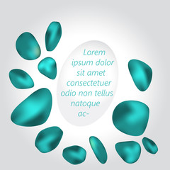 Blue organic shapes.