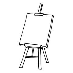 Easel icon. Outlined