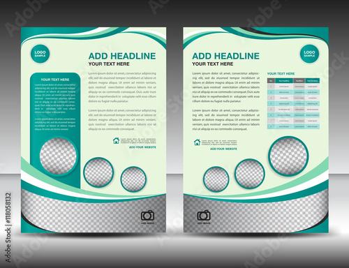 Green business brochure flyer design layout template in a4 size green business brochure flyer design layout template in a4 size poster leafletads spiritdancerdesigns Images