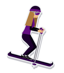 person figure athlete ski sport icon vector illustration design