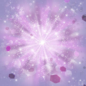 Abstract pink and mauve color background with streaks of scattering lights