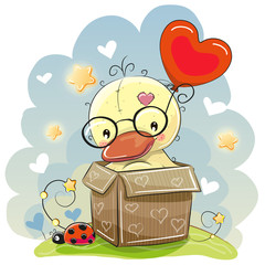 Birthday card with a Cute Duck