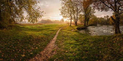 Landscape with foliage