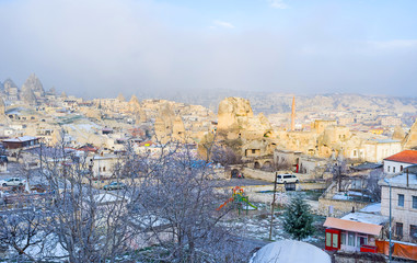 The foggy morning in Goreme