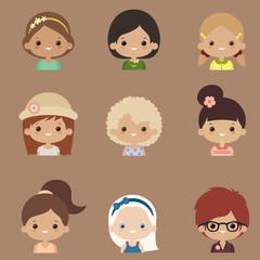 Character design vector set