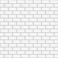 White seamless brick wall