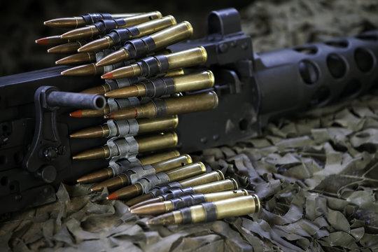 Machine Gun with Ammunition