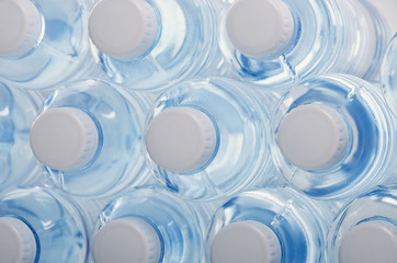 Water in the bottles. Health.