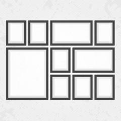 Modern black frames set
