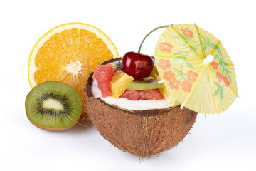 Fresh fruit salad.