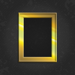 Gold modern picture frame