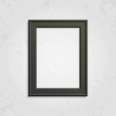 Black modern picture frame