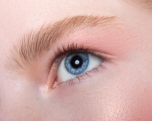 Beautiful female eye close-up