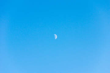 moon, sky, day, nature, crater, astronomy, lunar