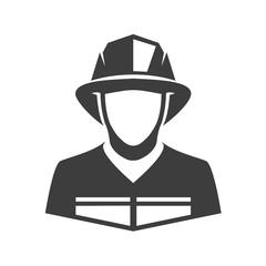 Vector icon fireman