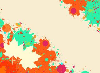 Watercolor autumn frame