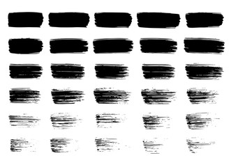 Black paint strokes
