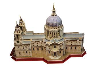 Макет Собора Святого Павла в Лондоне на белом фоне