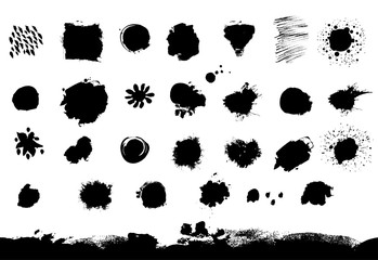 Big vector set of blotch and spots
