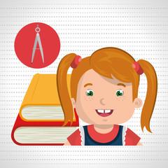 student books school elements