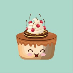 sweet cupcake icon design