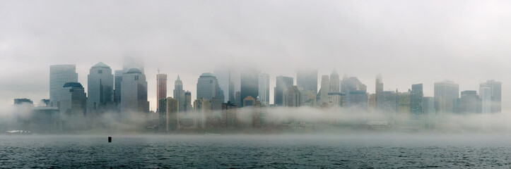 Fotomurales - New York City downtown fog