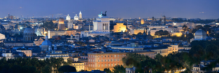 Fotomurales - Rome skyline night view