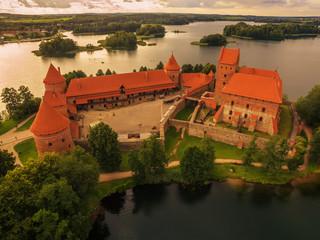 Trakai, Lithuania: Island Castle in the sunset