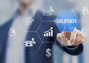 Concept about delegating tasks to increase efficiency and profit