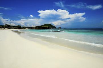 deserted beach at Lombok island.Indonesia.