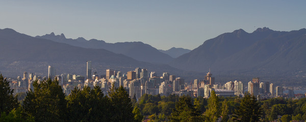 Wall Mural - Vancouver Panorama And Mountains