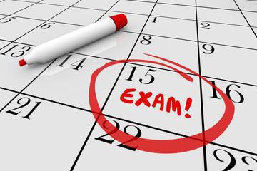 Exam Test School Final Physical Checkup Doctor Calendar 3d Illus