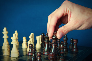 Board chess and hand