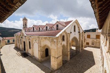 OMODOS, CYPRUS - MAY 2016: Timios Stavros orthodox monastery
