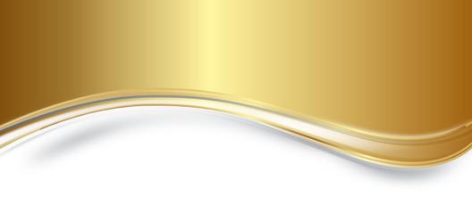 Gold Schwung Welle Wellen Hintergrund Band Banner