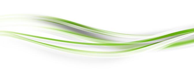 Welle Grün Green Band Banner Wellen