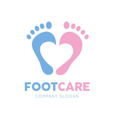 Foot logo, foot care logo template