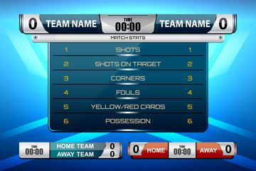 scoreboard game for football and soccer, vector illustration