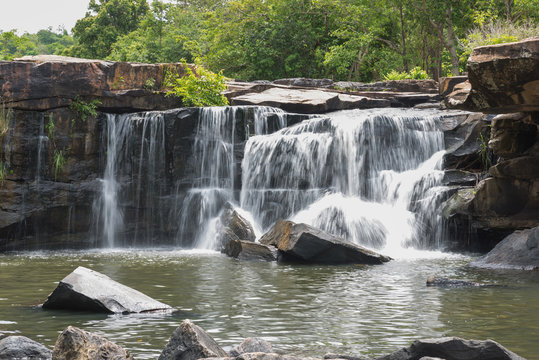 The waterfall in Tad Tone waterfall national park