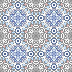 Seamless lace pattern print on white