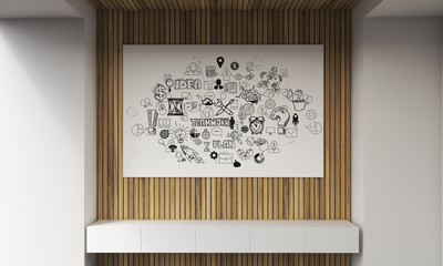 Brainstorming startup poster