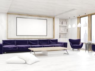 Living room in modern New York