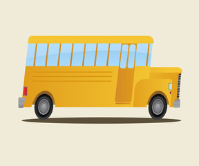 School bus. Vector flat illustration