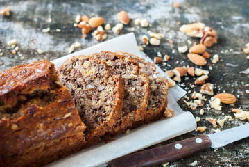 Banana Fresh Loaf Multigrain Organic Bread Rustic