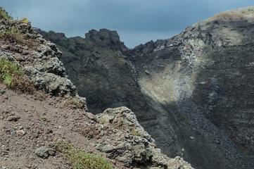 Crater of Mt Vesuvius