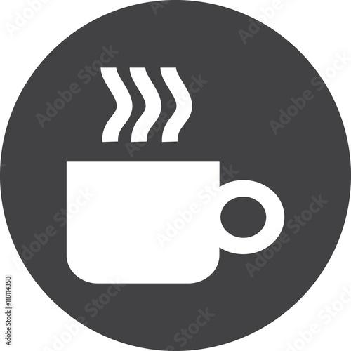 Coffee Cup Mug Icon Vector Sign Symbol Logo Button Concept