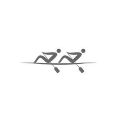 Logo Rowing Twos. Sport Summer