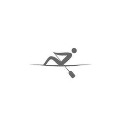 Logo rowing singles. Sport icon