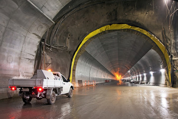 Concrete Road Tunnel Under Construction
